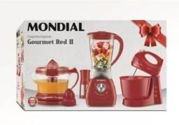 Kit Liquidificador Mondial cor Vermelha