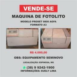 Máquina de Fotolito Formato A3 Proset 9800 AGFA