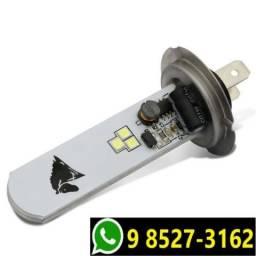 Lâmpada Super Led H7 8000k Luz Branca Moto