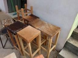 Cadeiras rústicas couro legítimo