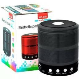 (NOVO) Mini Caixa Caixinha Som Portátil Bluetooth Mp3 Fm Sd Usb Aux
