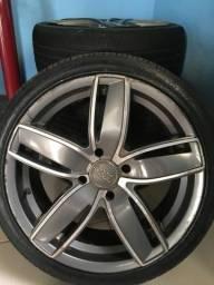 Rodas 17 4/108 pneus 90%