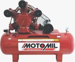 Compressor de ar 60 pés industrial 425 lt trifásico 15cv - motomil