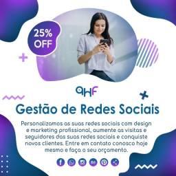 Gestão de redes sociais instagram + facebook