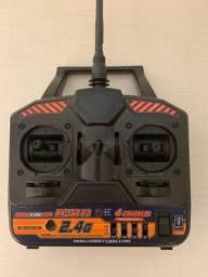 Rádio controle para aeromodelos 4 canais