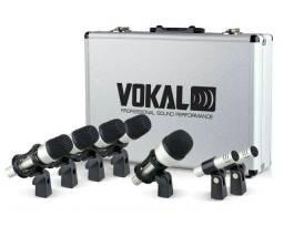 Kit Microfone Bateria Vokal Bateria