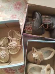 Lote sapatos infantil menina