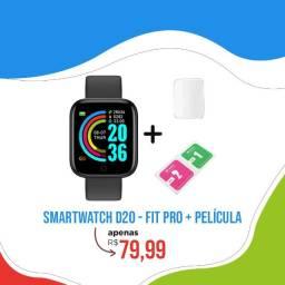 Smartwatch D20 - Fit Pro + Película de proteção