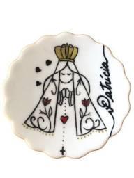 Joias do dia (salva/porta-terço) - Porcelana pintada à mão