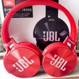 Título do anúncio: Fone de Ouvido Bluetooth Sem Fio Vermelho Ótimo P/ Caminhadas ou Corrida