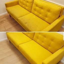 Venha deixar o seu sofá limpo e cheiroso com a JM CLEAN..