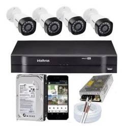 Kit DVR 4 Câmeras