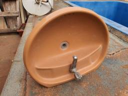 Título do anúncio: conjunto pia, vaso e valvula docol