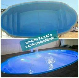Piscinas de fibra piscina de fibra, (7x3.40 Oval)