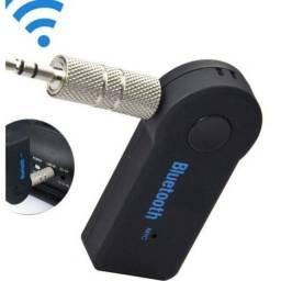 Adaptador Receptor Bluetooth P2 Música Chamada Som Carro 3.5mm Sem Fio