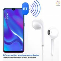 Fone de Ouvido S6 Universal Bluetooth 4.1 sem Fio Intra-Auricular Esportivo Headset Branco