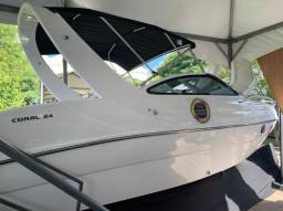 """Coral 24 """"2021"""" Motor Mercury 200hp XL 4T Comando Mecânico + Direção Hidráulica Zero"""