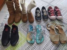 Título do anúncio: Lote de calçados menina número 31