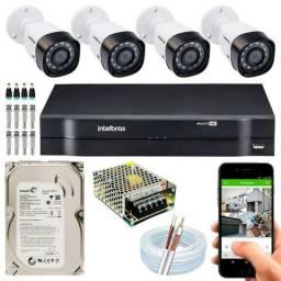 R$ 120,00 04 câmeras Intelbrás locação