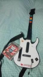 Guitarra e Jogo Guitar Hero ps3