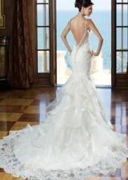 Vestido de noiva renda francesa