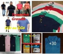 Camisas Grandes, Polos, Básicas e Bermudas Grandes, Plus Size