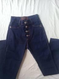 Calça cintura alta tamanho 38 escura