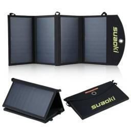 Carregador solar universal de duas portas Suaoki 25W