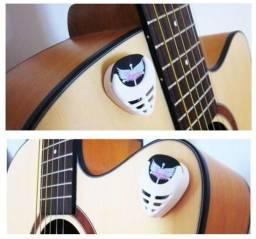 Porta Palheta + 3 Palhetas - Violão Guitarra