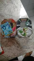 2 latas pokémon 400+ cartas