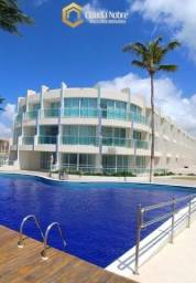 Apto 80m2, 2 quartos em condomínio na Barra de São Miguel