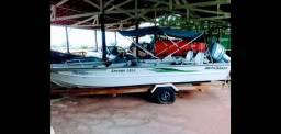 Lancha Metalglass Savage 5513 (barco,motor e carretinha)
