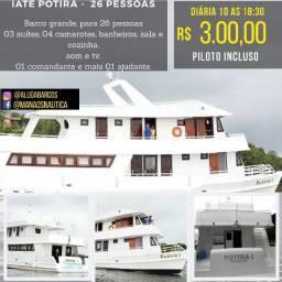 .. Iate, Lancha e Barcos, Alugamos em Manaus