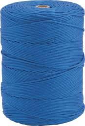 Corda multifilamento trançada 8 mm x 258 m, azul, em carretel