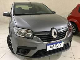 Renault Logan Zen 1.6 Flex Cinza 2020 Completo Único Dono!!!