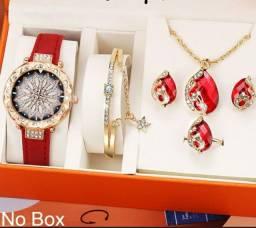 Conjuto de pulseira e relógios de luxo Starry Sky