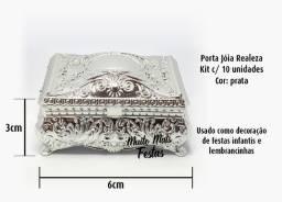 Porta Jóia Realeza Prata - 10 unidades