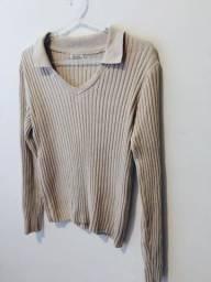suéter bege