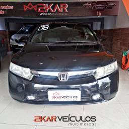 HONDA NEW CIVIC LXS 1.8 AUTOMÁTICO/ BANCO DE COURO/ COM GNV/2008