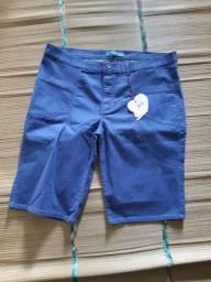Bermuda jeans feminina.com lycra  tam 54 e 56