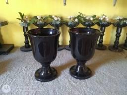 Vasos cerâmica par $120