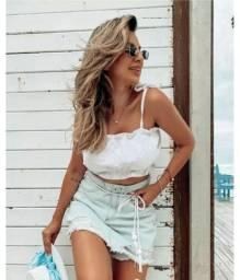 Short Saia Jeans Tendência