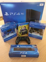 PS PRO 1TB + 3 Controles + PS4 Camera + Strikepack Dominator + Cyberpunk 2077