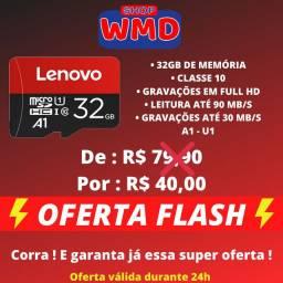 Cartão micro SD Lenovo 32GB A1 Classe 10