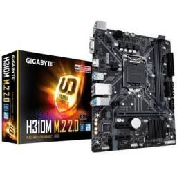 Kit I3 9100F + Placa-Mãe Gigabyte H310M M.2 2.0 DDR4