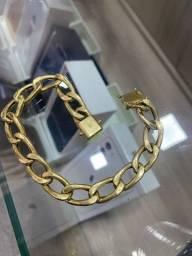 Pulseira de ouro 18K perfeita exclusiva garantia eterna