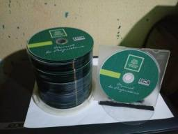 DVDs personalizados sem embalagem