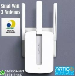 Repetidor Sinal Wifi 3 Antenas Mercusys 300Mbps