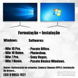 Formatação de Computador + Instalação de Sofwares