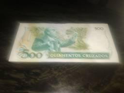 Cédula de 500 cruzado